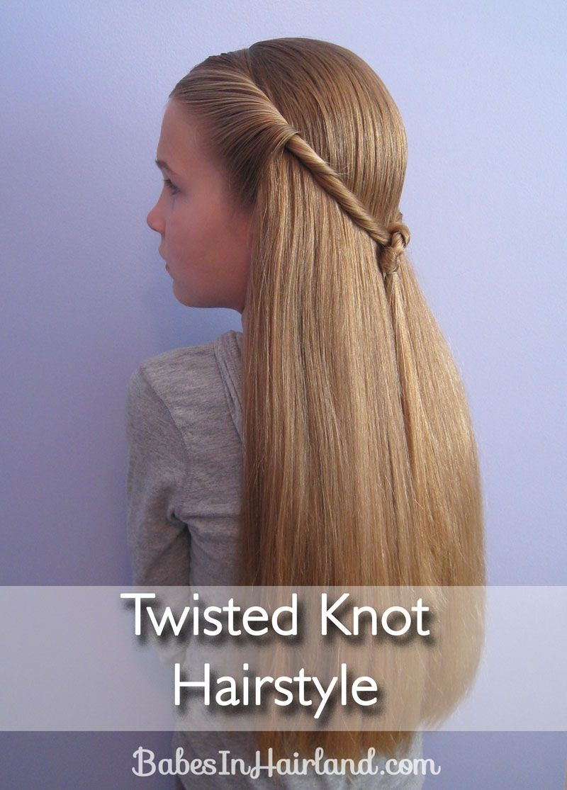 Twisted Knot Hairstyle | Teen Hairstyles | Babes In Hairland | Hair ...