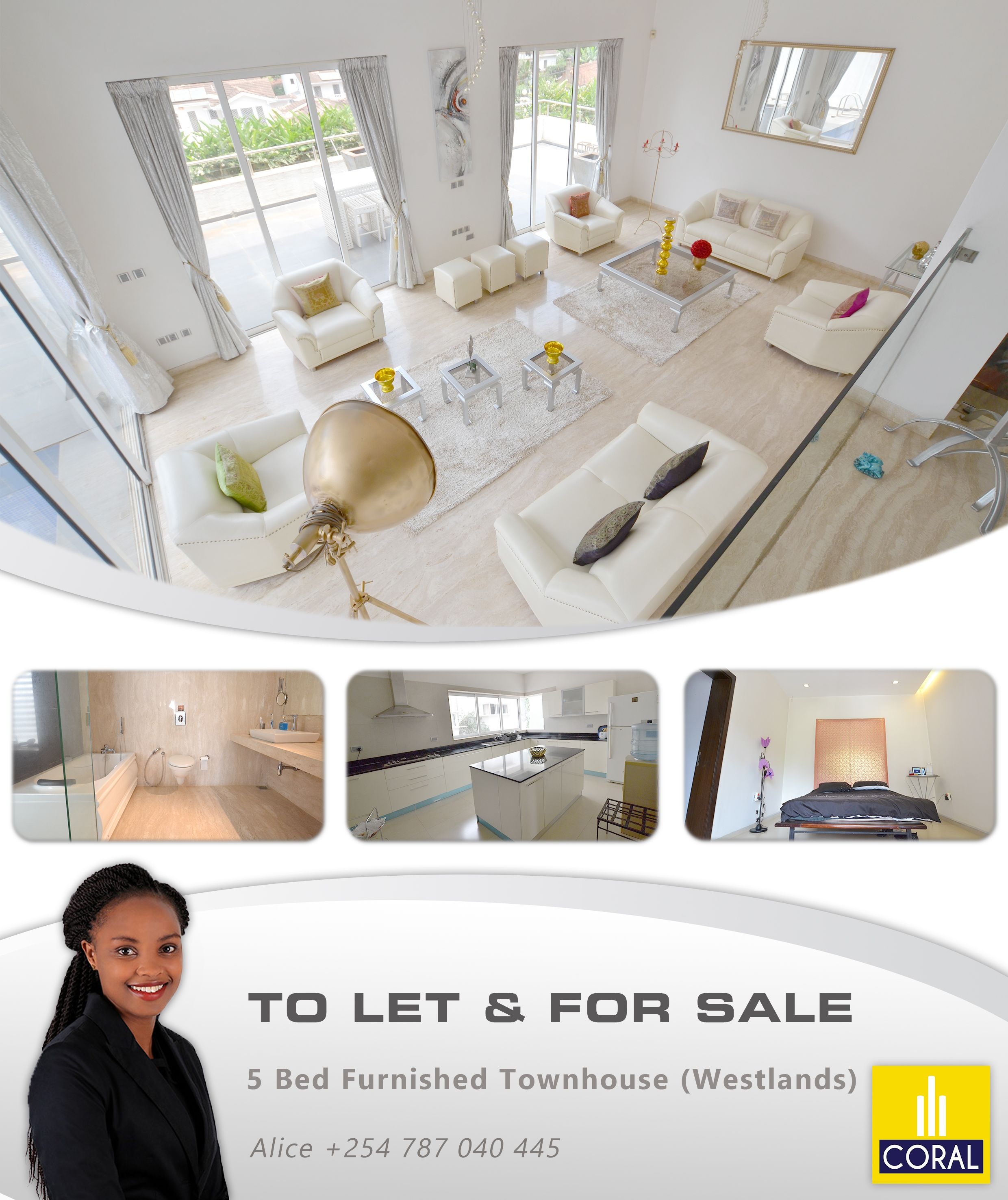 5 Bed Furnished Townhouse To Let & For Sale In Westlands