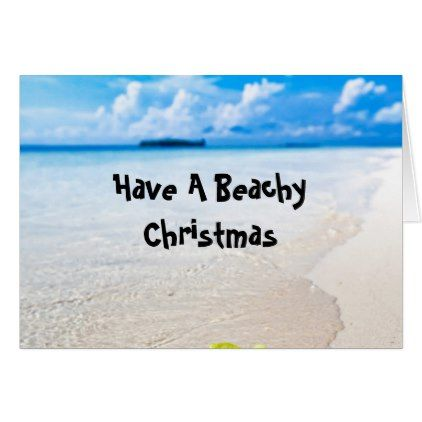 Beachy Summer Christmas Greeting Card Summer christmas