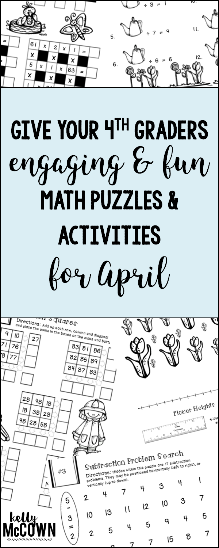 April Math Worksheets 4th Grade Distance Learning Math Worksheets Grade 4 4th Grade Math Worksheets Math Packets Math