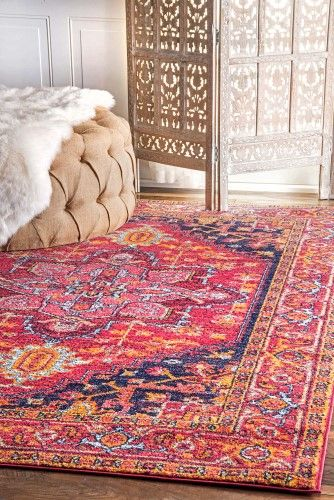 Fancy Persian Vonda Pink Area Rug, Size 8\' x 10\' | Area rug sizes ...