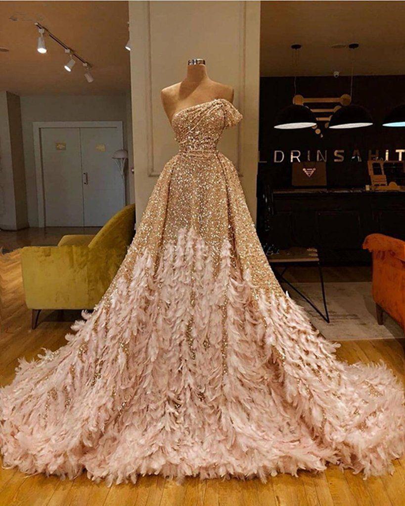 luxury prom dresses 2020 detachable skirt sequin sparkly ...