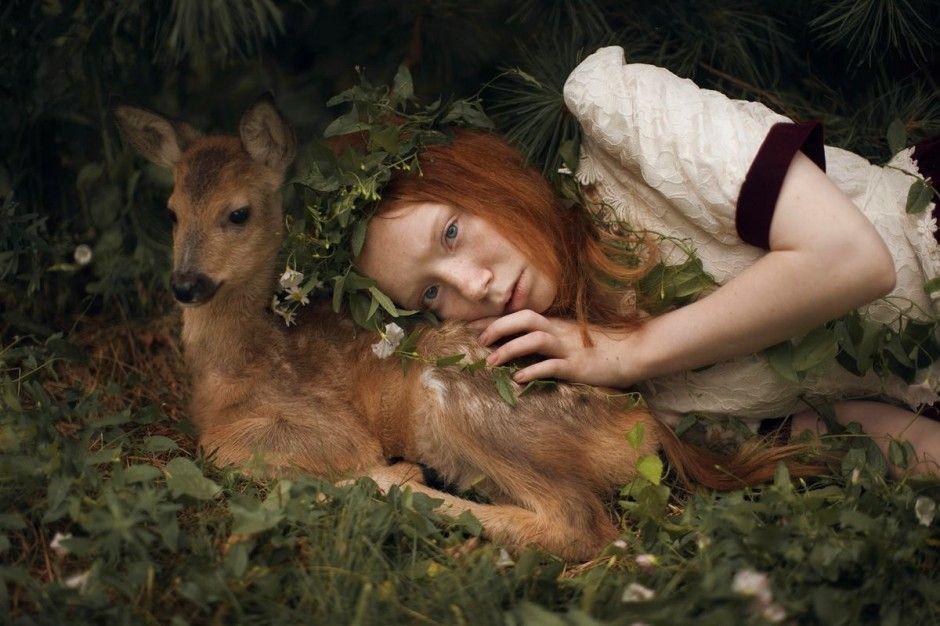 Bambi By Katerina Plotnikova Mystery Fairy And Photography - Russian photographer takes enchanting fairytale photos featuring wild animals
