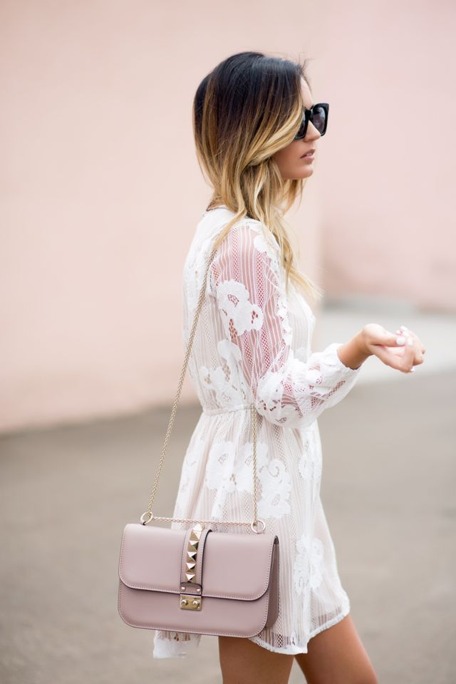 For All Things Lovely: Floral Dress + Blush Platforms