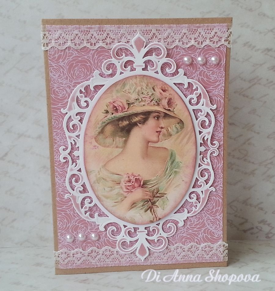 Unique Handmade Greeting Card For Her Mother Grandmother Wife