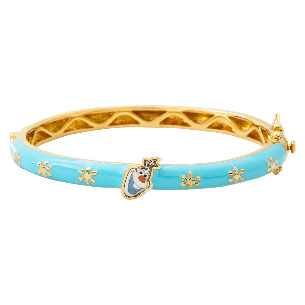 Disney Frozen Olaf the Snowman Bangle Plated - Multicolor, Women's, Size: Small, Blue