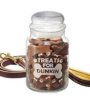 Glass Pet Treat Jar