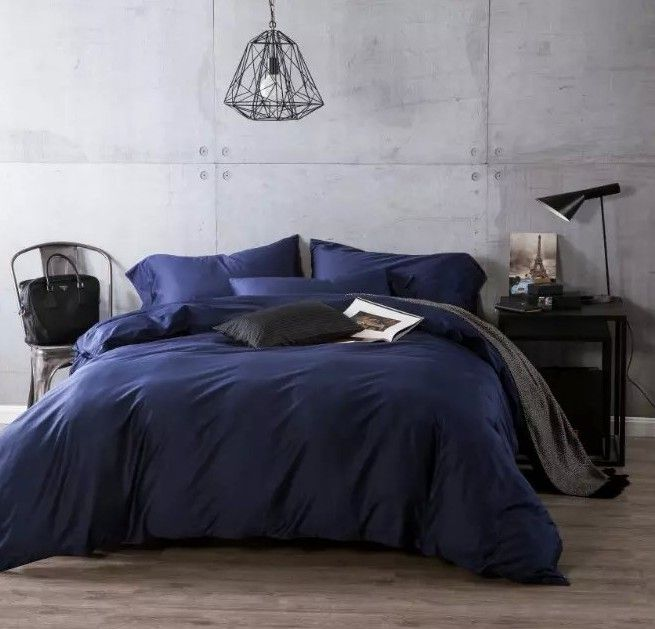 Cheap Bed In A Bag, Buy Quality Bed In Bag Directly From China Cover Bed  Suppliers: Luxury Navy Blue Egyptian Cotton Bedding Sets Sheets Bedspreads  King ...