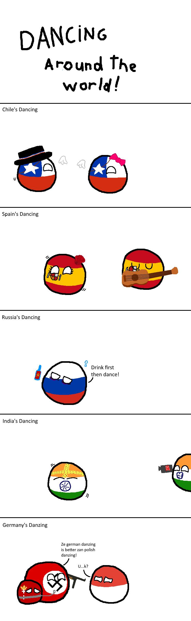 Dancing Around The World Polandball Some Jokes Country Memes Country Humor