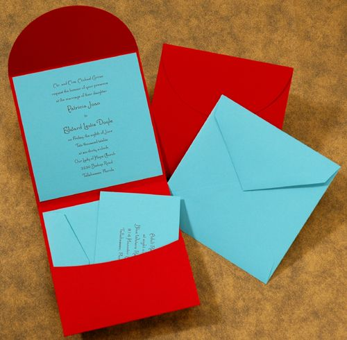 Turquoise And Red Wedding