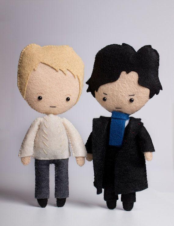 Sherlock Holmes poseable plush from Sherlock by LilFandom on Etsy
