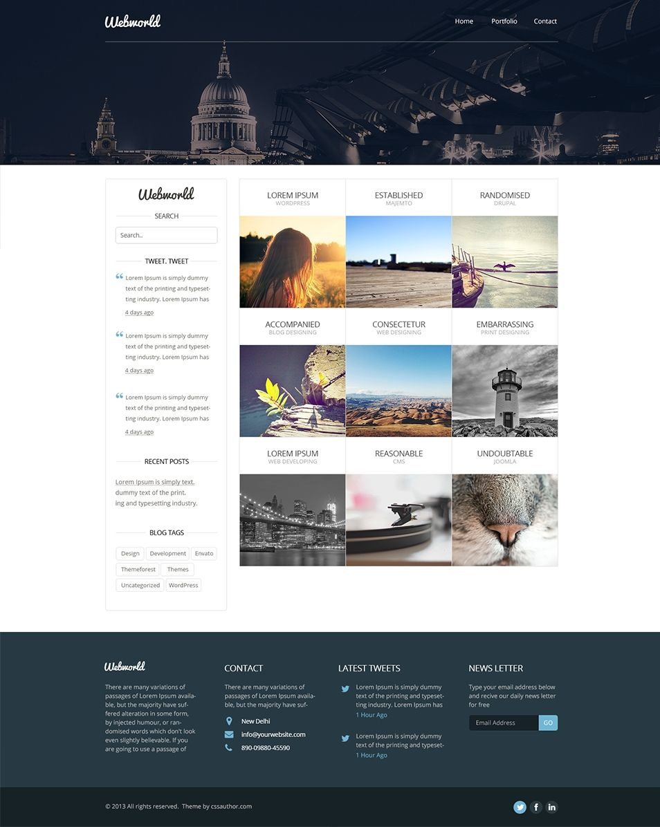 Professional Free Corporate Web Design Template Psd Css Author Pertaining To Professional Website Ecommerce Website Design Fun Website Design Website Design