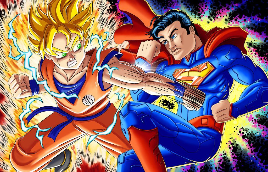 East Vs West Superman Vs Goku Goku Vs Superman Superman Epic Rap Battles