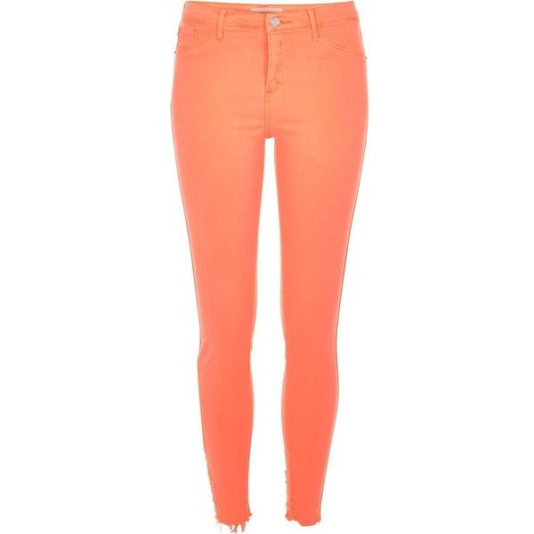 River Island Orange Molly jeggings ($84) ❤ liked on Polyvore ...