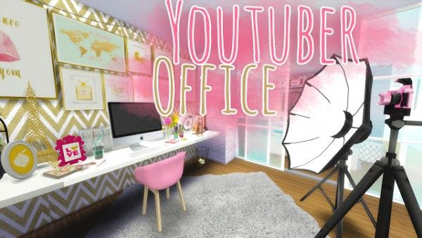 Sims 4 - Youtuber Bedroom | MODY | Pinterest | Sims, Bedrooms and ...