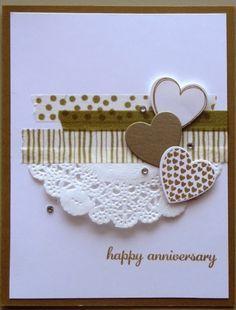 Stampin Up Watercolor Wonder Washi Tape Hearts A Flutter Framelits Valentines Cards Cards Handmade Valentine Day Cards