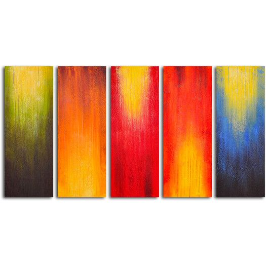 Pin By Original Gallery Walls Art Prints On Luxury And: My Art Outlet Paintbrush Panels Of Color 5 Piece Original Painting On Canvas Set