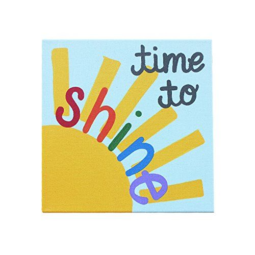 Time to Shine: Kids Home Decor Canvas Wall Art for Playroom, School ...