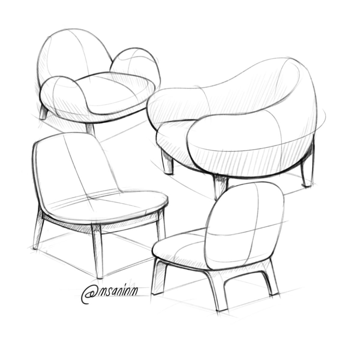 Digital sketchbook 2016   Drawing furniture, Interior design ...