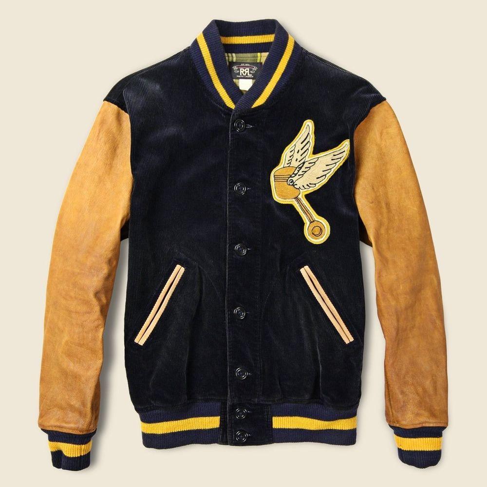 70b3f3a1e2 RRL Ralph Lauren Double RL Wakefield Varsity Jacket Size Large Very Rare