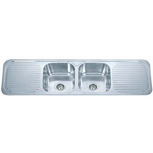 Stainless steel inset kitchen sink 20 bowl with double drainer stainless steel inset kitchen sink 20 bowl with double drainer waste kit f01 mr workwithnaturefo
