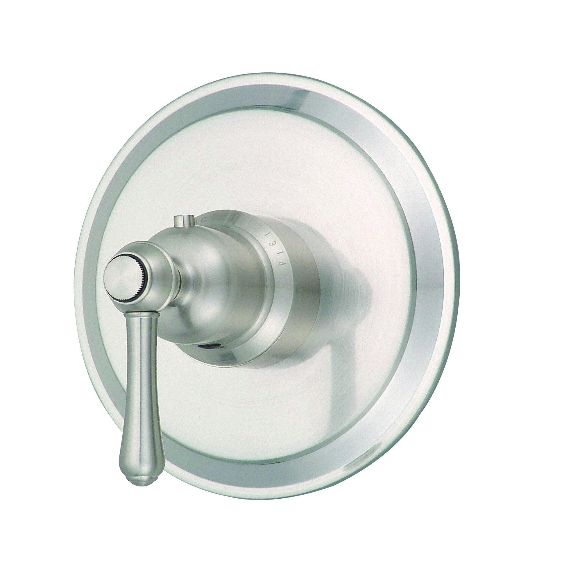 Opulence 1h 3 4 Thermostatic Valve Trim Kit Brushed Nickel Gray