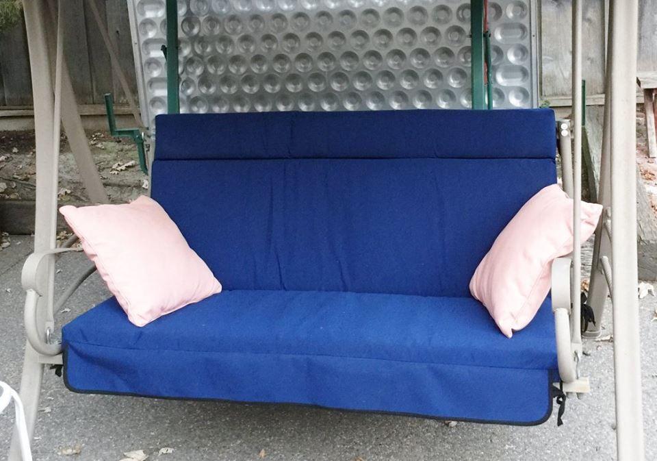 Refurbished patio swing cushion