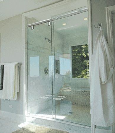 european glass shower doors | This top of the line hydroslide ...