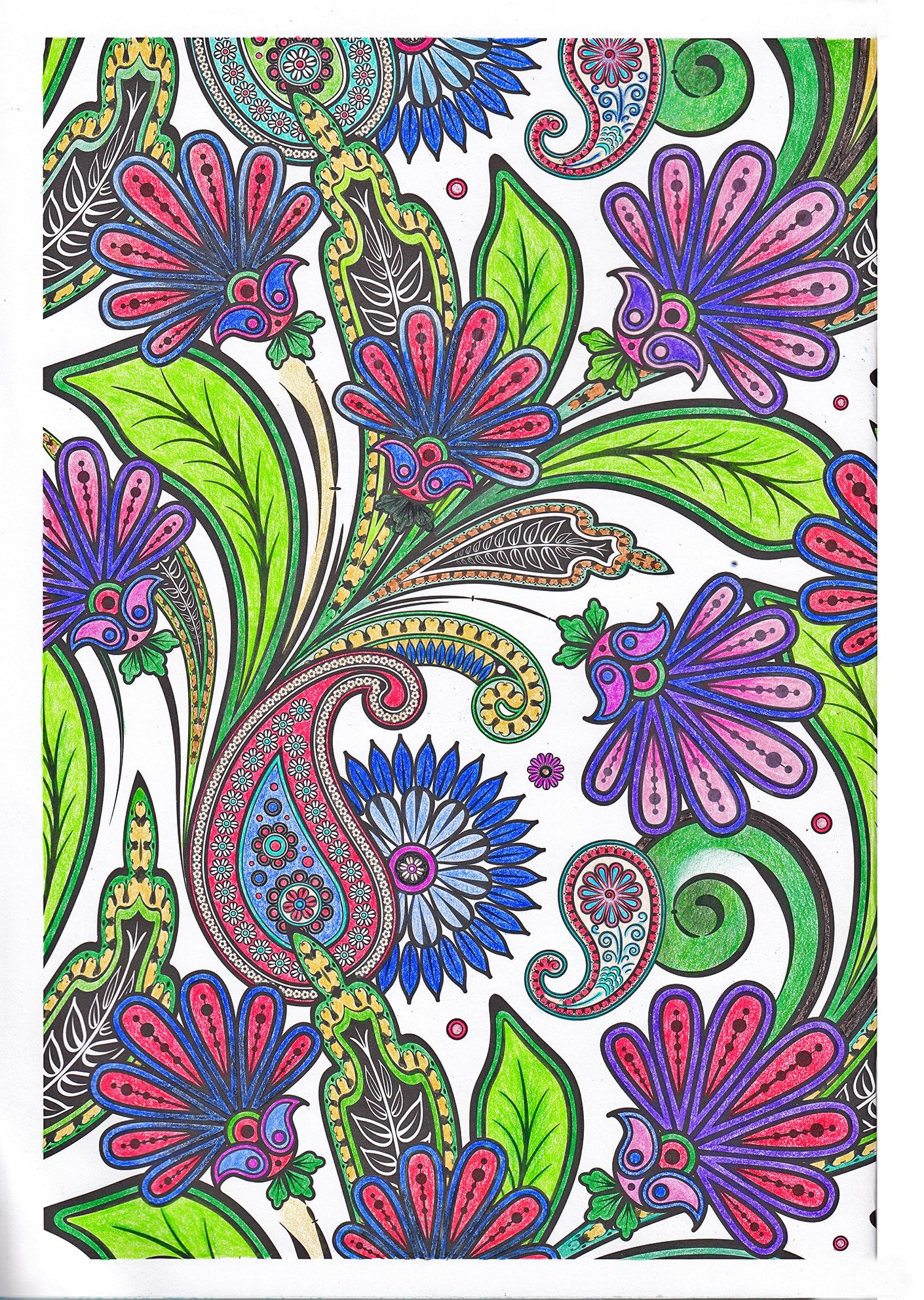 Colouring pages for adults. Flowers on white background by SandraKZ ...