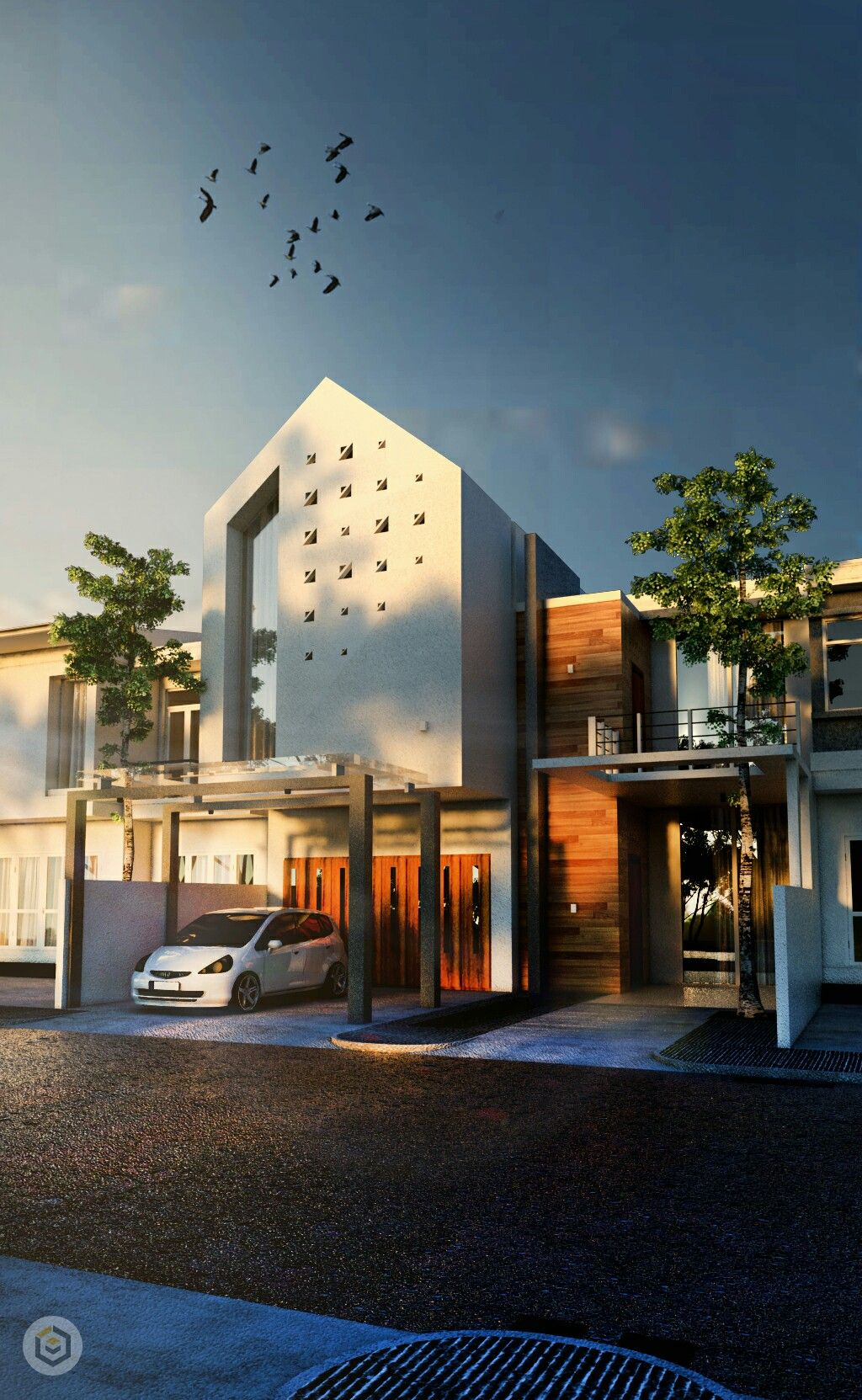 Modern Home Located In Montonate Italy: Modern House. Location Indonesia