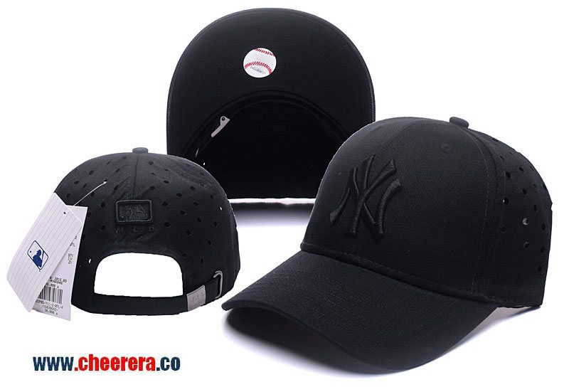 952356a63a0 MLB New York Yankees Adjustable Snapback Hat in Whole Black ...