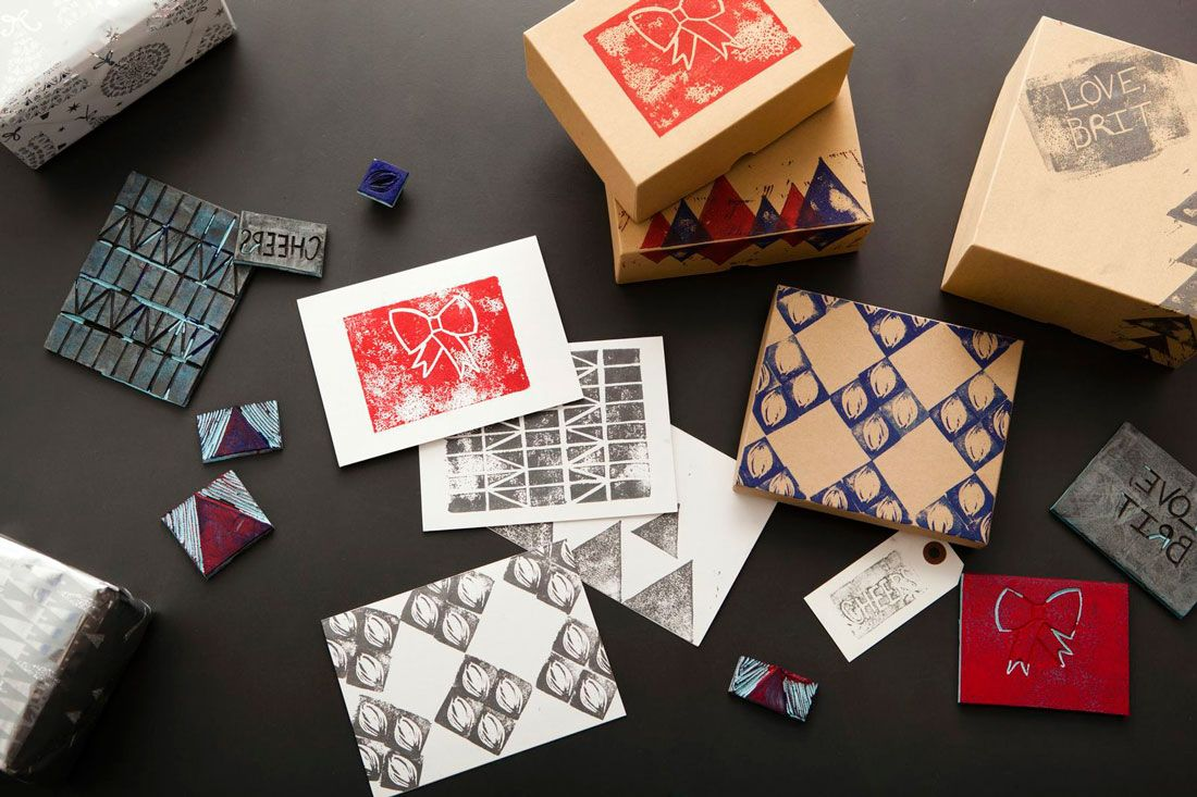 DIY these stamps for holiday cards and gift wrap with this easy tutorial.