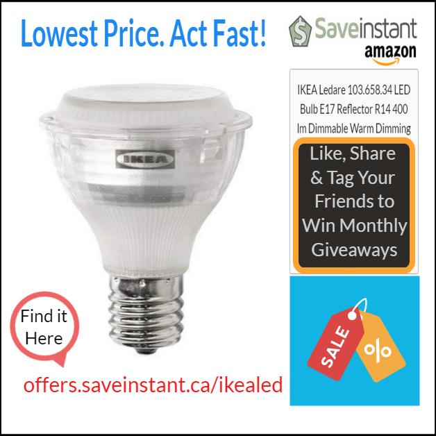 64a44266cfe IKEA Ledare 103.658.34 LED Bulb E17 Reflector R14 400 lm Dimmable Warm  Dimming!