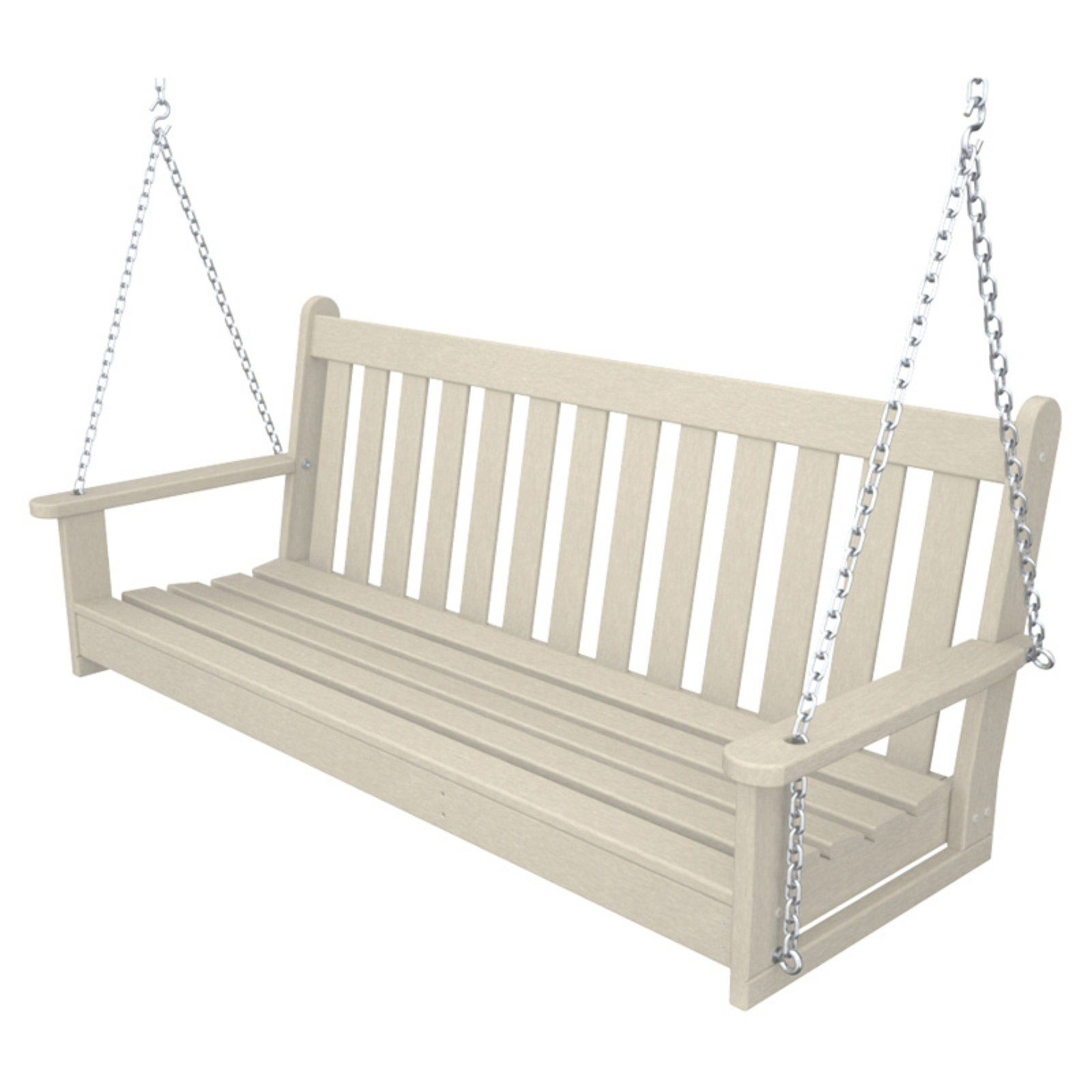Polywood Vineyard Recycled Plastic 5 Ft Porch Swing Porch Swing Polywood Hanging Porch Swing