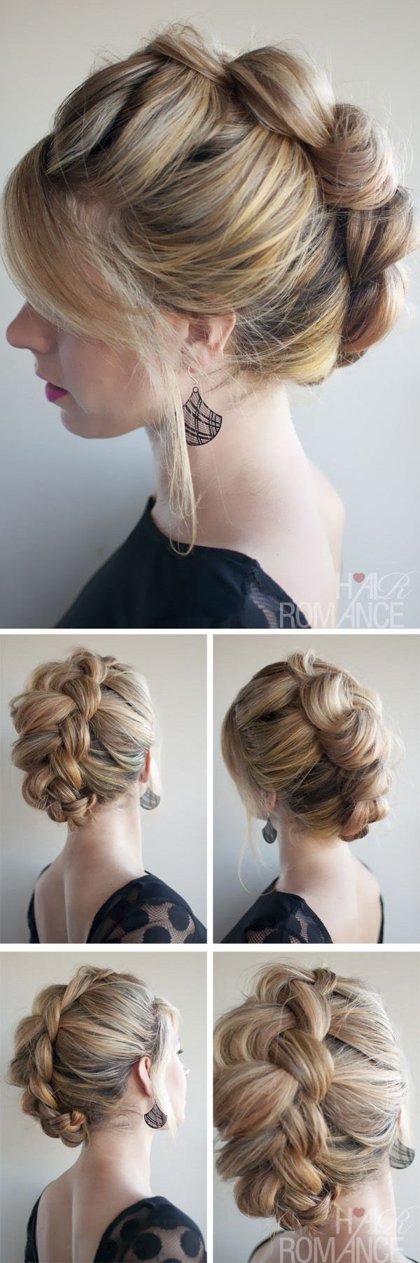 romantic braided hairstyles for long hair and medium hair