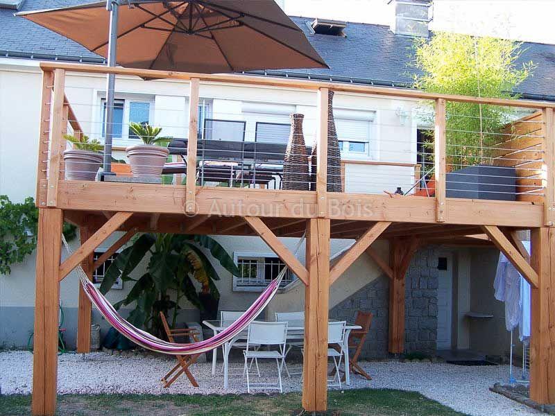 structure du0027une terrasse bois suspendue Idées pour la maison - cout d une terrasse en bois