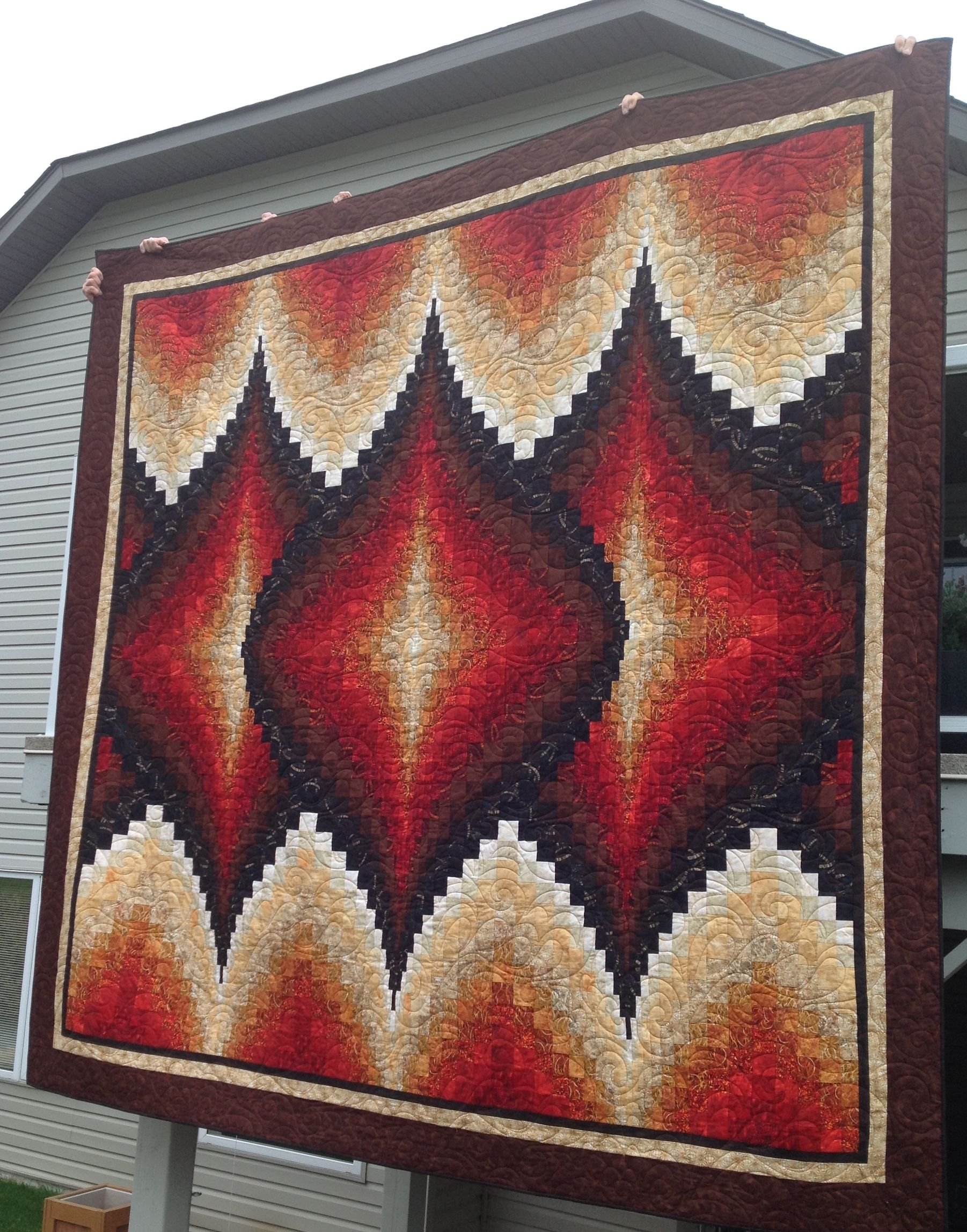 Argyle Bargello from More twists and Turns - King size | Quilts