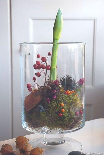 blumen tischdeko im glas weihnachten wohn design. Black Bedroom Furniture Sets. Home Design Ideas