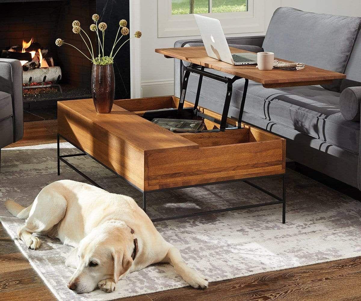 Leende Lift Top Storage Coffee Table In 2020 Scandinavian Coffee Table Coffee Table Inspiration Cool Coffee Tables