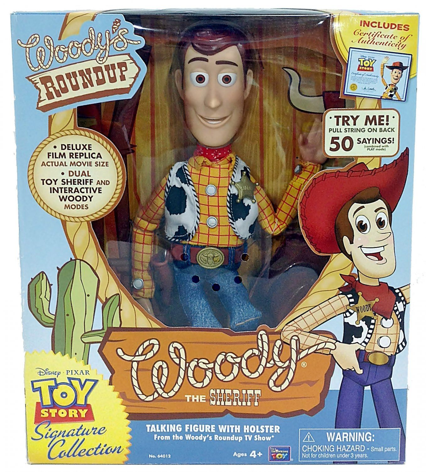 Disney Pixar Signature Collection Toy Story Talking Sheriff Woody Action  Figure by Thinkway Toys 6f6e4bbfcca