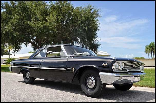 1963 ford galaxie 500 r code 427 425 hp 4 speed for sale by mecum auction motorcycles cars. Black Bedroom Furniture Sets. Home Design Ideas