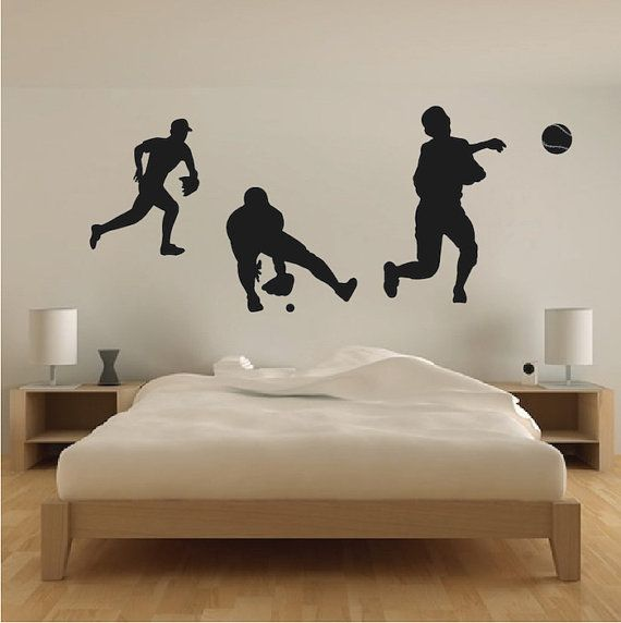 Baseball Players Wall Decals Baseball Wall By TrendyWallDesigns - Vinyl vinyl wall decals baseball