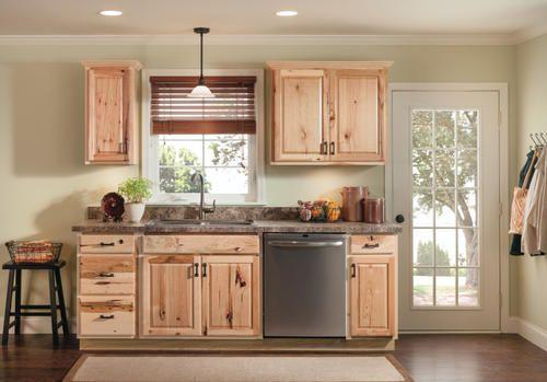 Value Choice 60 Thunder Bay Hickory Standard 4 Door Sink Base Cabinet At Menards Hickory Cabinets Lake House Kitchen Hickory Kitchen Cabinets