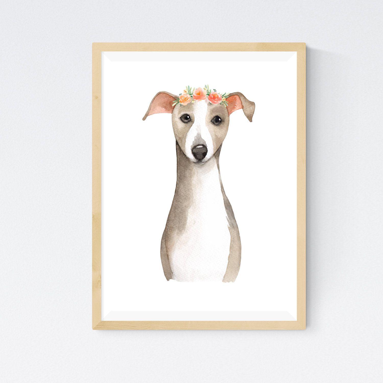 Cute Italian Greyhound Wall Art Instant Download Etsy In 2020 Wall Art Instant Download Art Wall Art