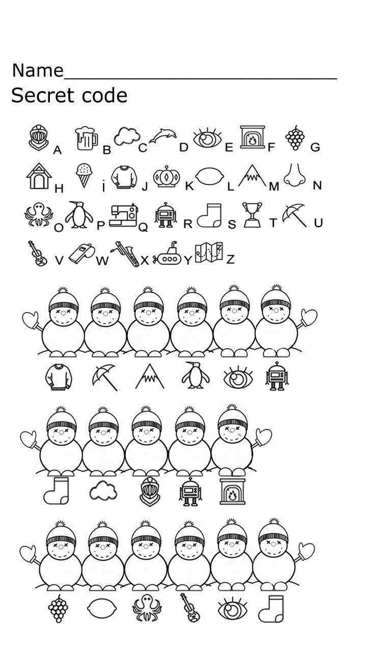Secret Code Coding For Kids Kids Math Worksheets Worksheets For Kids [ 1298 x 770 Pixel ]