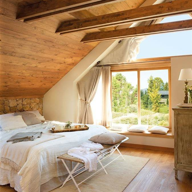 20 dormitorios r sticos con mucho encanto luces muchas for Decoracion habitaciones principales