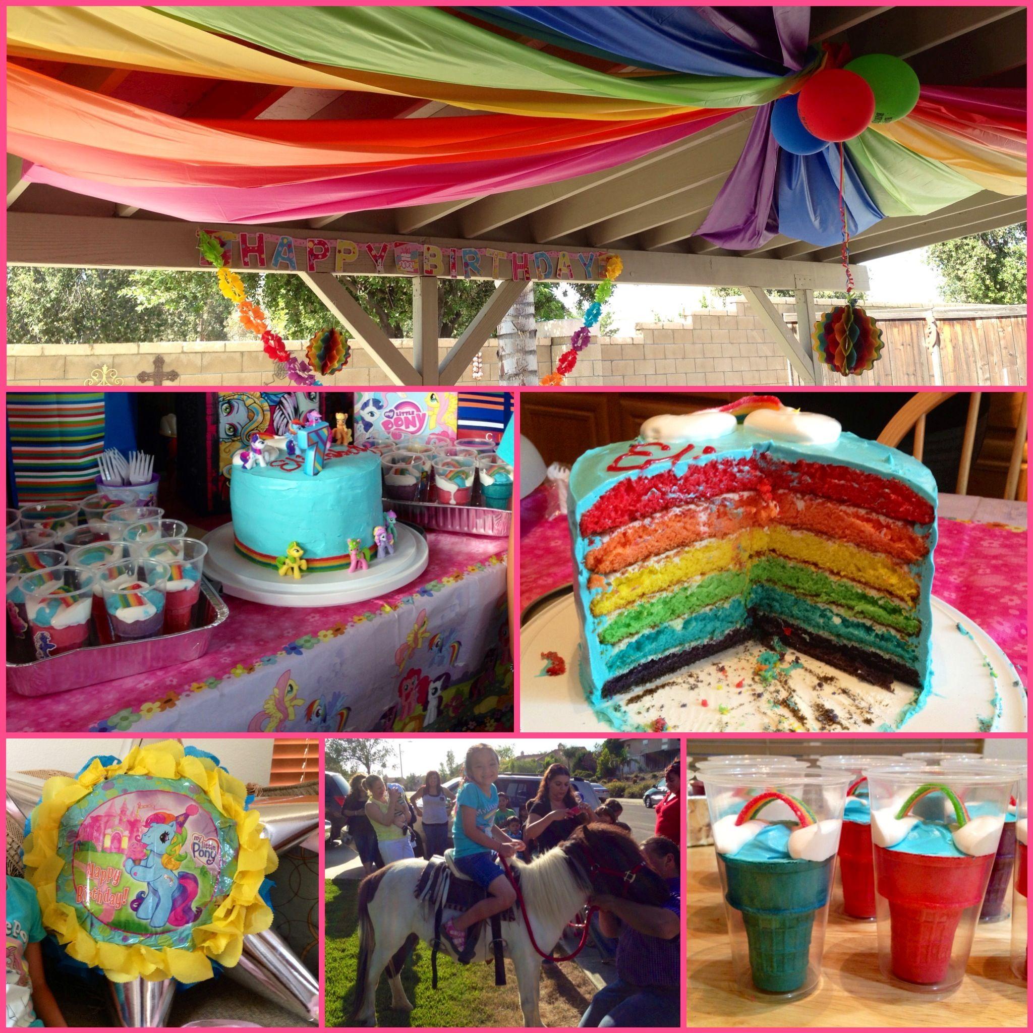 My Little Pony Party Pony jumper Piata Rainbow cake candy