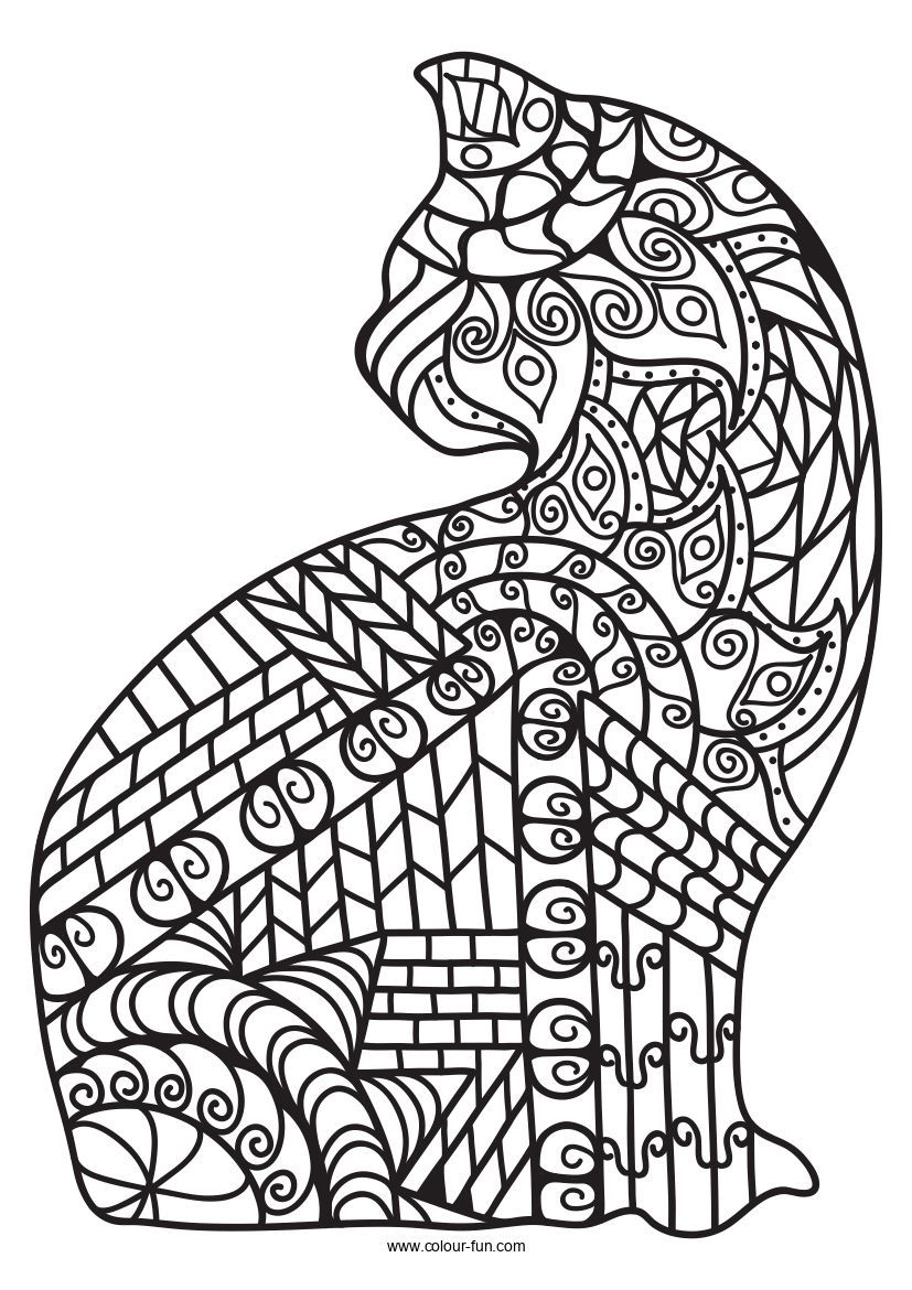 Free Pdf Downloads With A Single Click Click On The Image To Go To The Download Page Zentanglecats Cats Kitten Cat Coloring Page Cat Colors Coloring Pages [ 1170 x 827 Pixel ]