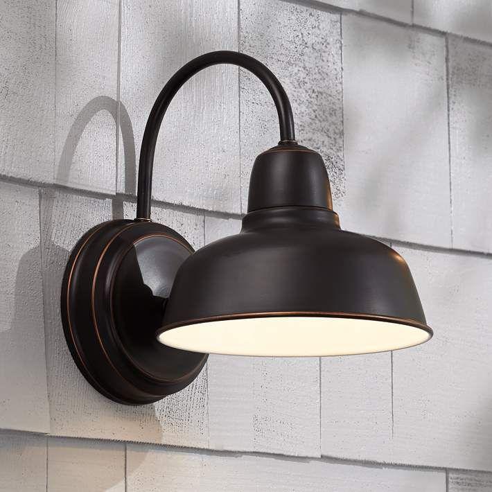 Urban barn 11 1 4 high bronze indoor outdoor wall light style w4596