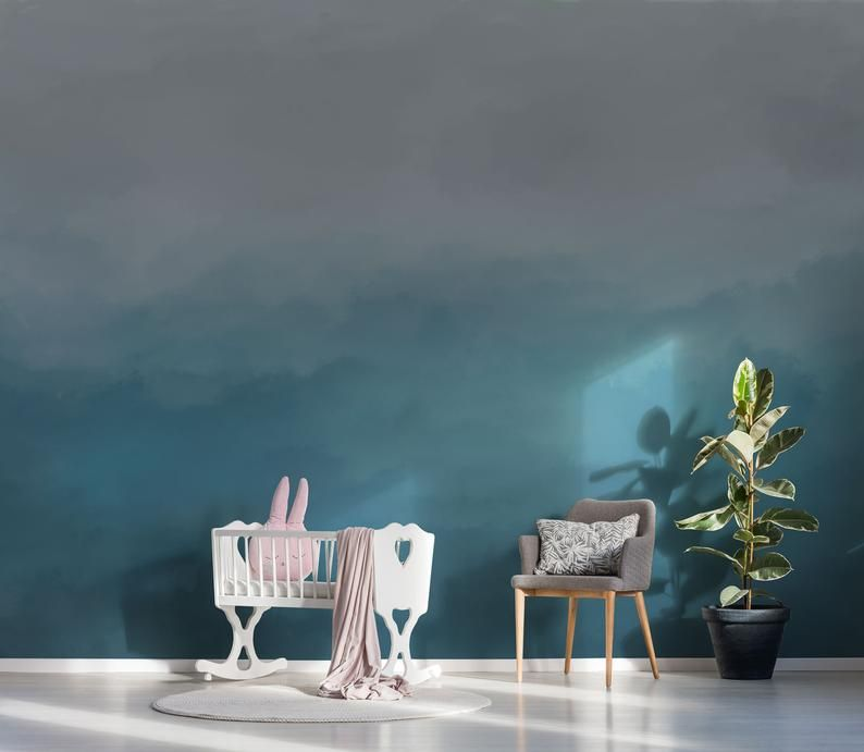 Pastel Blue Ombre Removable Wallpaper Peel And Stick Wallpaper Etsy In 2020 Pastel Blue Removable Wallpaper Home Decor Decals